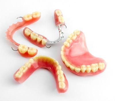 Close up of different types of dentures at Armidale dentist office